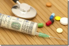 Money in syringe